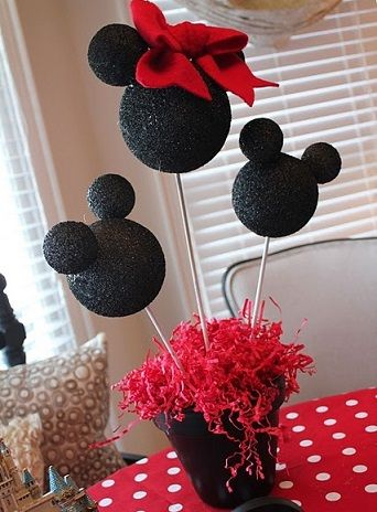 Centro de mesa mickey mouse car interior design - Ideas para cumpleanos infantiles ...