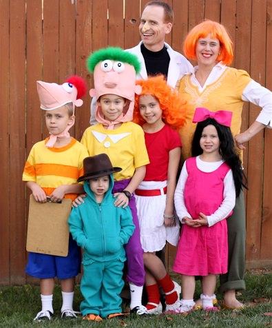 disfraces caseros para familias phineas y ferb