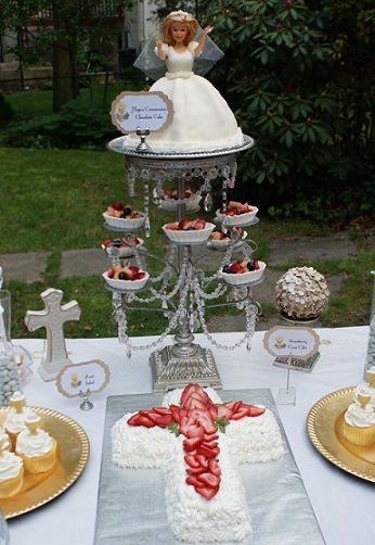 tarta decorada comunión