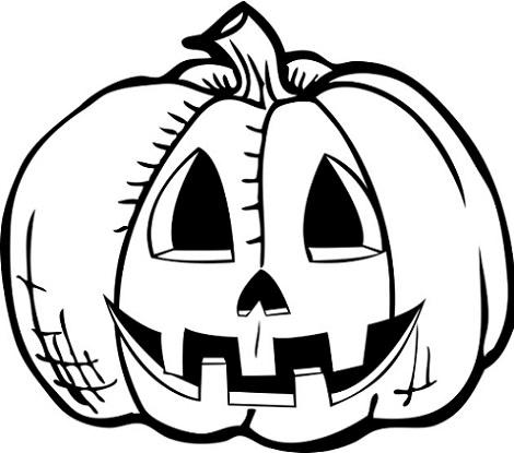 Dibujos de calabazas para pintar y colorear en halloween - Calabazas de halloween de miedo ...