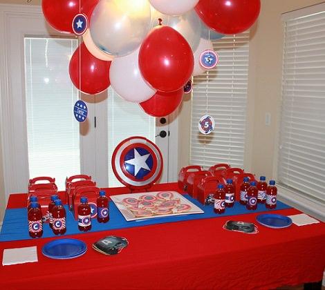 fiesta de cumpleaños del capitán américa