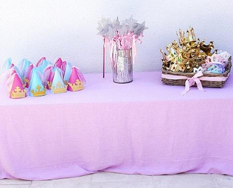Decoración de una fiesta de la princesa Sofía