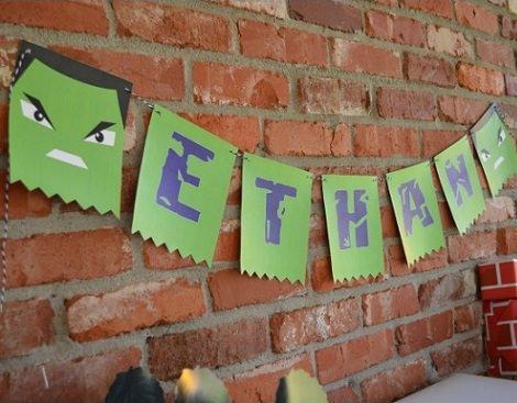 Ideas caseras para una fiesta de cumpleaños de Hulk para niños
