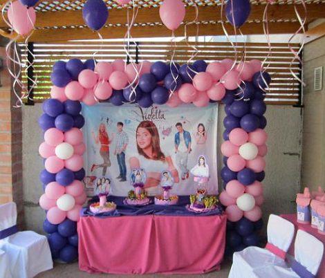 Ideas caseras para decorar una fiesta de violetta - Como decorar un cumpleanos ...