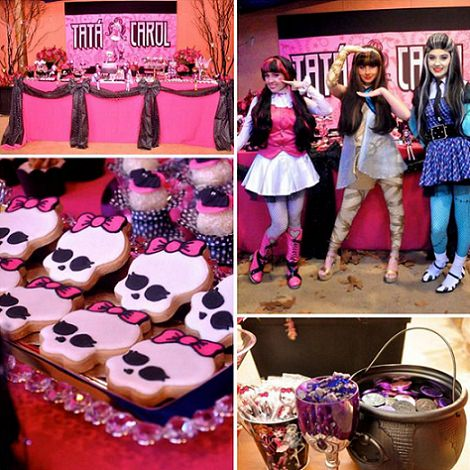 fiesta de halloween con las monster high