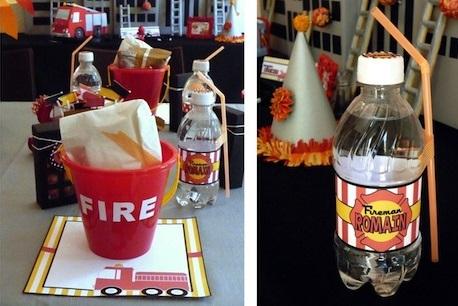 ideas fciles para celebrar un cumpleaos infantil de bomberos