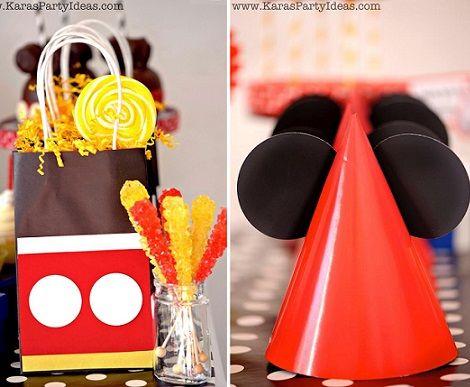 ideas para un cumpleaños de Mickey Mouse casero