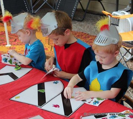 juegos fiesta medieval para nios mesa