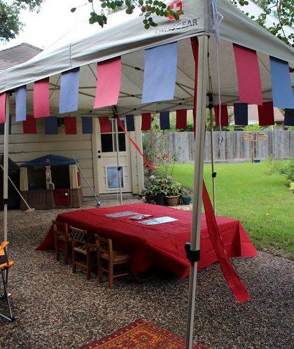fiesta medieval para nios mesa