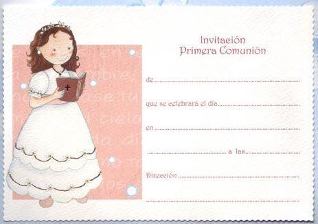 invitaciones de primera comunion para imprimir en casa