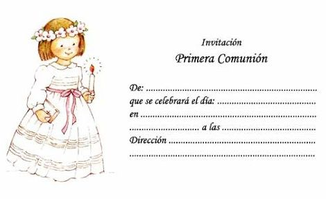 8 invitaciones de comunion para imprimir gratis
