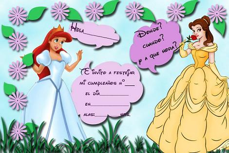 Invitación Princesas Disney