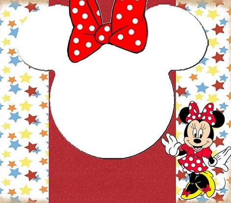 Invitaciones de cumpleaños de Minnie Mouse para imprimir
