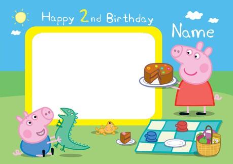 invitación de cumpleaños de peppa pig