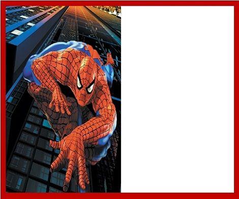 invitaciones de cumpleaños de spiderman