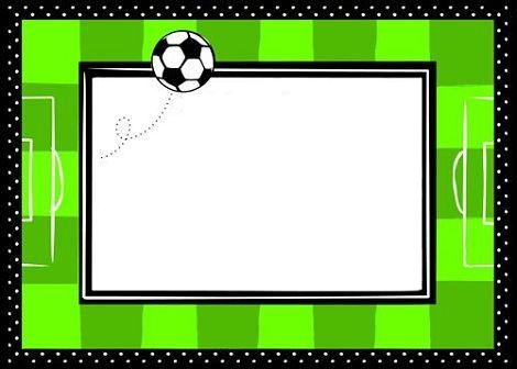 Invitaciones de fútbol para cumpleaños