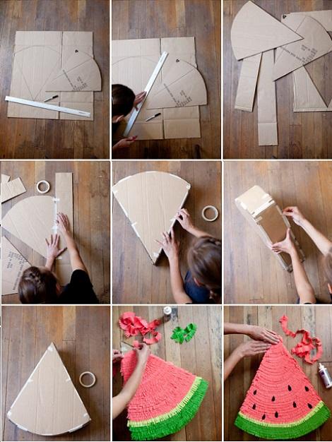 como-hacer-pinata-sandia- ...