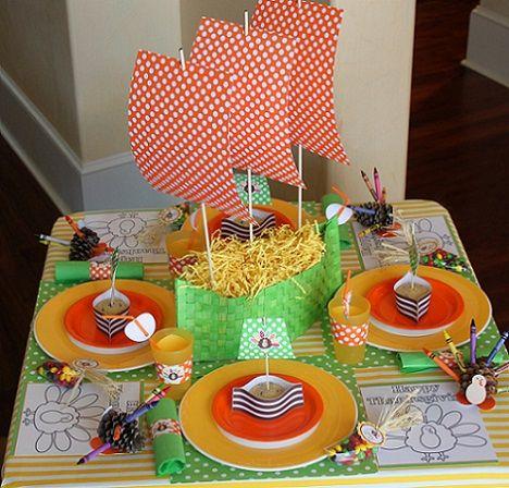 como hacer un centro de mesa con forma de barco