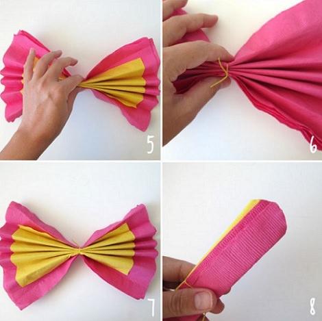 C mo doblar servilletas en forma de flor para un cumplea os - Origami con servilletas ...
