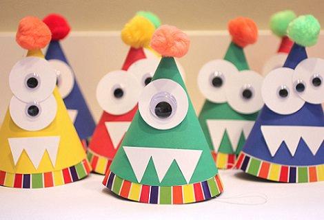 sombreros de monstruos para fiestas infantiles