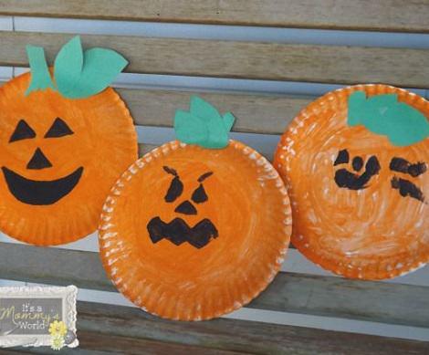 Manualidades infantiles para hacer en halloween - Calabazas de halloween manualidades ...