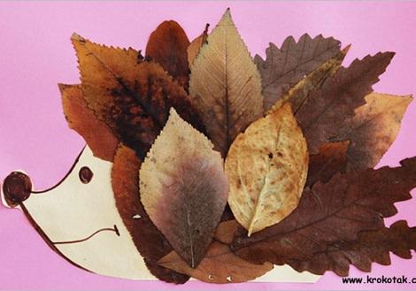 manualidades de otoño de un erizo para hacer con niños
