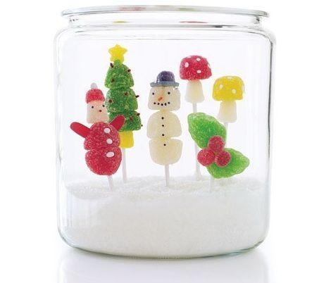 El bast n de caramelo adornos de navidad con chuches - Adornos caseros navidad ...