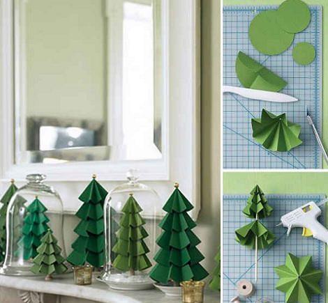 Ideas para hacer un rbol de navidad casero de papel - Adornos para arbol de navidad caseros ...