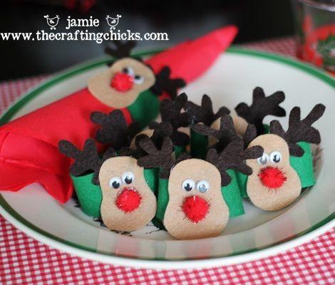 Servilleteros de fieltro para navidad - Manualidades en fieltro para navidad ...