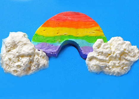 cómo hacer un helado de arcoiris con los niños