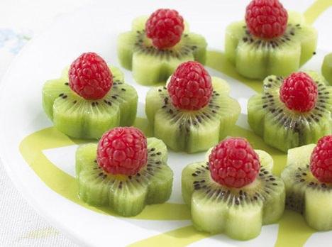 fruta con formas originales para merienda