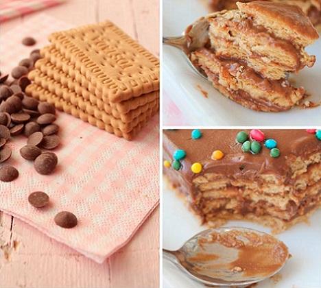 como hacer la tarta de galletas casera