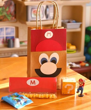 bolsas de cumpleanos caseras para niños