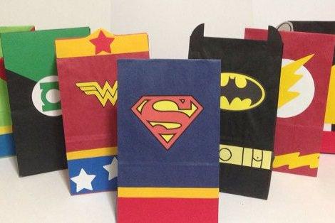 bolsitas de cumpleaos de superhroes