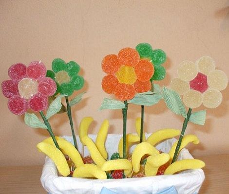 C mo hacer figuras y tartas con chuches o gominolas - Mesa de chuches casera ...
