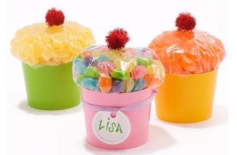 bolsas de regalo de chuches con forma de cupcake