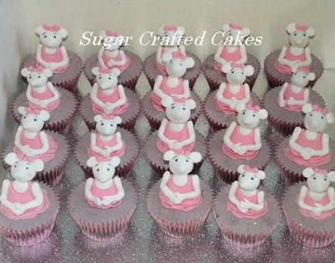 fiesta angelina ballerina cupcakes