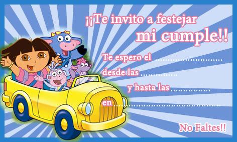 Invitación de Dora la exploradora