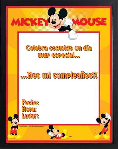invitaciones cumple imprimir mickey mouse