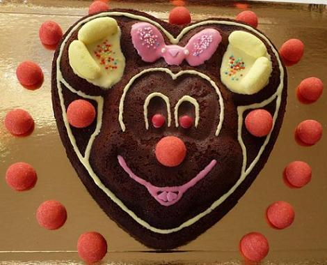 Tarta de chocolate Minnie