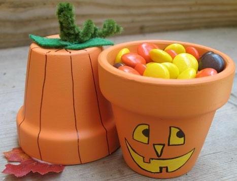 decoración halloween maceta