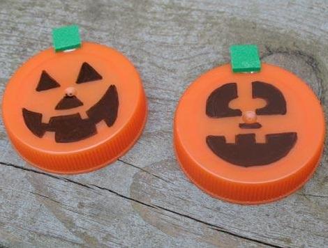 decoración halloween tapones