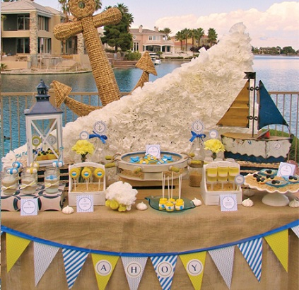 fiesta bautizo marinera mesa