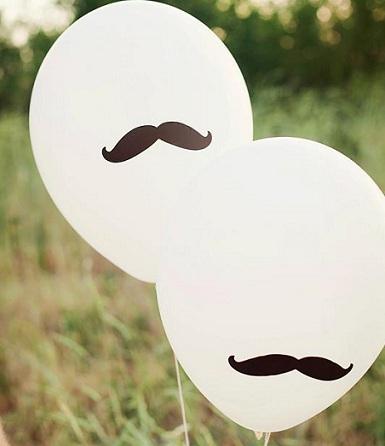 fiesta moustache globos