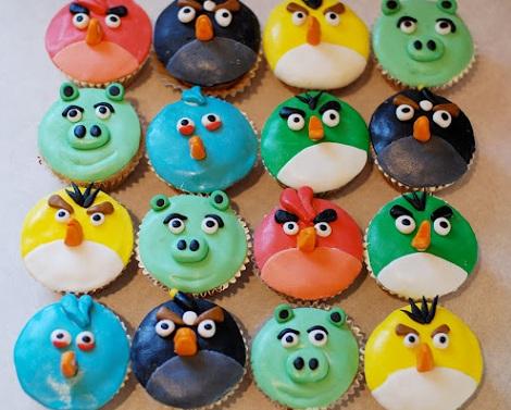 ideas cumpleaños angry birds cupcakes