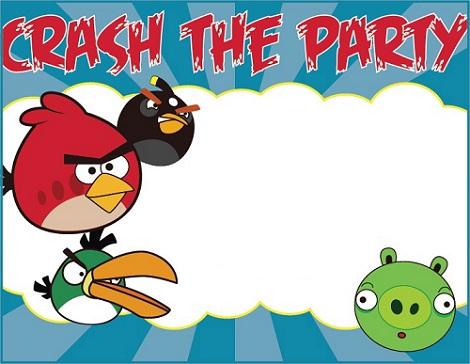invitaciones cumpleaños angry birds colores