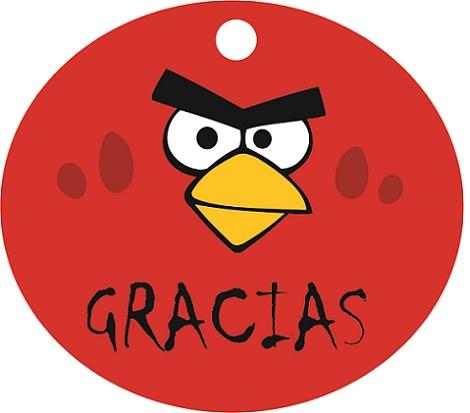 invitaciones cumpleaños angry birds redonda