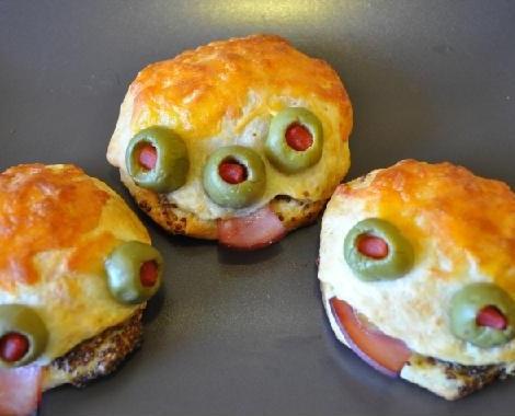 recetas halloween faciles hamburguesa monstruo