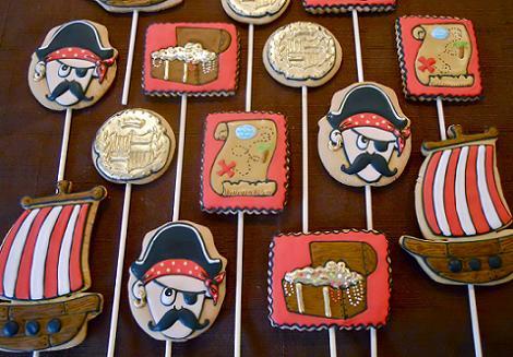 Cake pops piratas