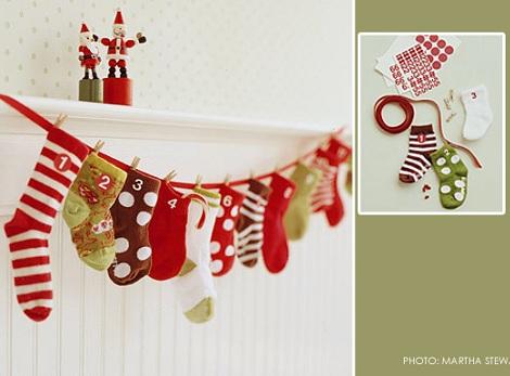calendario navidad calcetines